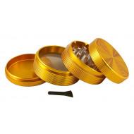 Guld Alu Bølge Grinder 63mm